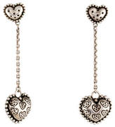 John Hardy Heart Drop Earrings