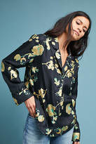 Cynthia Rowley Printed Silk Buttondown