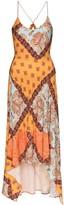 Esteban Cortazar mixed paisley print midi dress
