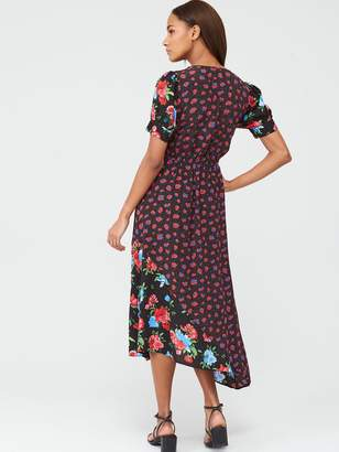 Very Mixed Floral Midaxi Dress - Print