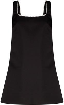 Area Square Neck Backless Mini Dress