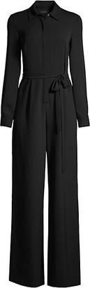 Donna Karan Shirt Wrap Jumpsuit