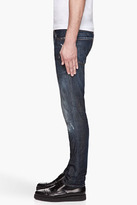 DSquared DSQUARED2 Blue distressed and paint splattered slim jeans