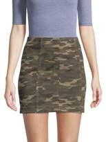 Free People Camo Denim Mini Skirt