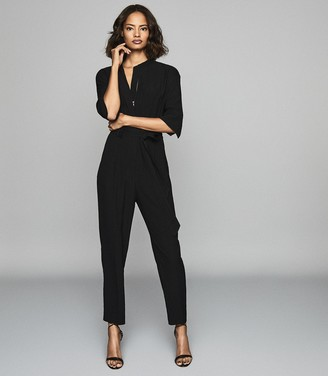 Reiss Freya - Utility Jumpsuit in Black