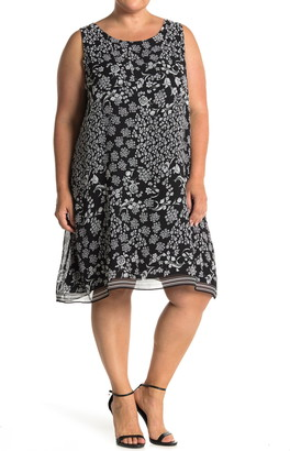 Max Studio Geometric Print A-Line Dress