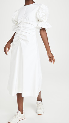 Edit Flare Sleeve Ruched A Line Dress