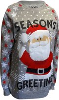 Freeze Merry Christmas Rudolph's Santa Ugly Holiday Sweatshirt for women