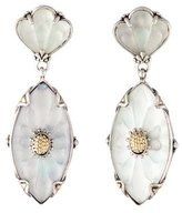 Konstantino Carved Frosted Quartz Drop Earrings