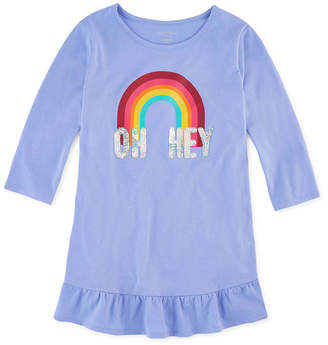 Arizona Girls Round Neck 3/4 Sleeve Tunic Top Preschool / Big Kid