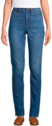 Lands' End Women's' Shaping Straight-Leg Jeans