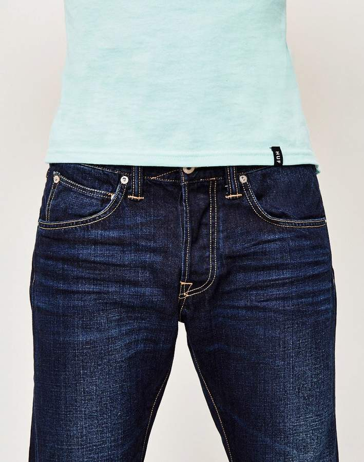 Edwin ED-55, Relaxed Tapered, Deep Blue Jeans, Coal Washed