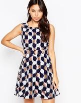 Iska Circle Print Tie Back Dress
