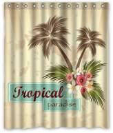 Custom for Love Shower Curtains Custom Waterproof Fabric Bathroom Tropical Paradise Palm Tree Shower Curtain