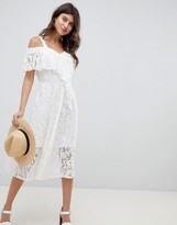 Asos Design DESIGN Lace Midi Sundress