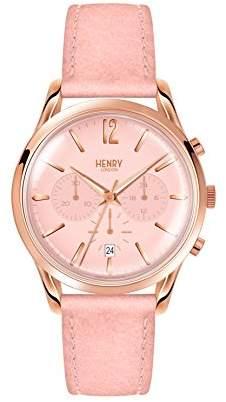Henry London Unisex-Adult Chronograph Quartz Watch with Leather Strap HL39-CS-0158