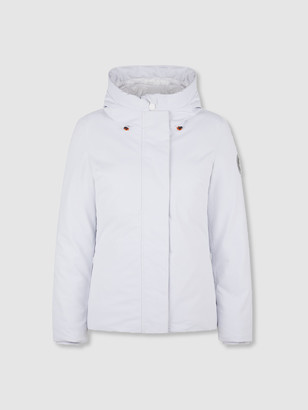 Save The Duck Women's SMEG White Winter Hooded Jacket