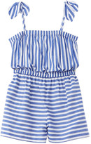 Milly Chambray Stripe Tie Romper