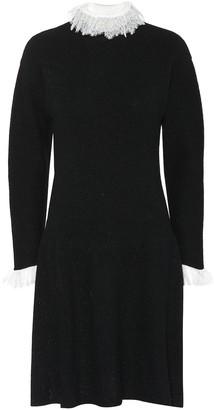 Philosophy di Lorenzo Serafini Lace-trimmed wool-blend dress