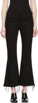 Marques Almeida Black Flared Capri Jeans