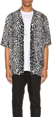 Burberry Radley Short Sleeve Shirt in Black IP Pattern | FWRD