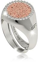 Rebecca R-Zero Rhodium Over Bronze Rose Ring w/Stones