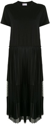RED Valentino T-shirt panelled pleated dress