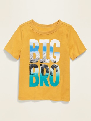 Old Navy Puff-Print Graphic Crew-Neck Tee for Toddler Boys