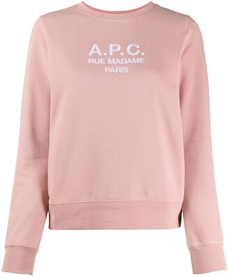 A.P.C. Tina embroidered logo cotton sweatshirt