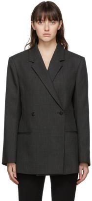 Totême Grey Wool Loreo Slit Blazer