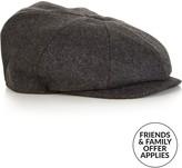 Christy CHRISTYS' Men's Melton Wool Baker Boy Cap- Charcoal