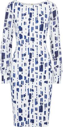 Max Mara Pietre Printed Silk Twill-paneled Cady Dress