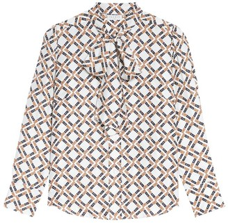 Sandro Paris Silk Print Shirt