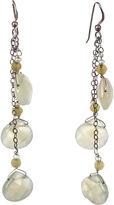 One Kings Lane Vintage Pearl & Lemon Quartz Drop Earrings