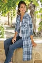 Soft Surroundings Penelope Plaid Shirtdress