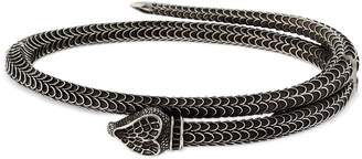 Gucci Snake Clasp Cuff Bracelet