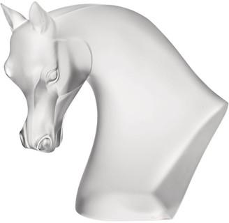 Lalique Satin Crystal Horse Head Sculpture