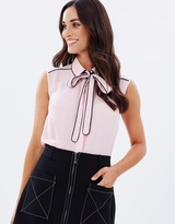 Dorothy Perkins Piped Pussy Bow Blouse