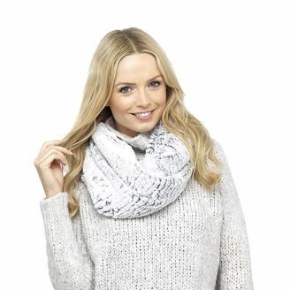 Rjm Accessories Ladies Soft Faux Fur Snood Black Warm Winter Neck Scarf Wrap Loop Accessory