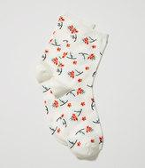 LOFT Floral Crew Socks
