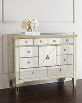 Horchow Amelie Mirrored Entertainment Chest