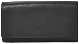 Fossil Emma Leather RFID Flap Clutch Purse