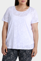 Floral Double Layer Burnout Short Sleeve Tee