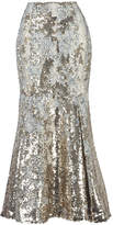 Emilia Wickstead Leroy Sequin Embroidered Skirt
