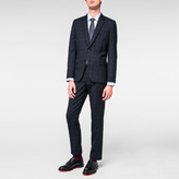 Paul Smith Men's Tailored-Fit Navy Tonal-Check 'Suit To Travel In'