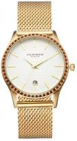 Akribos XXIV Women's Glimmer Crystal Stainless Steel Mesh Watch