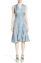 Carven Women's Stripe Silk Dress