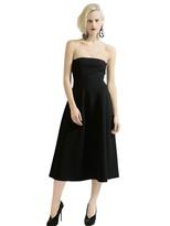 Emporio Armani Strapless Boiled Wool Dress