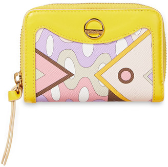 Emilio Pucci Logo-embellished Printed Faux Textured-leather Wallet