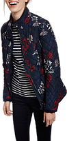 Joules Newdale Quilted Printed Jacket, Marine Navy Fay Floral